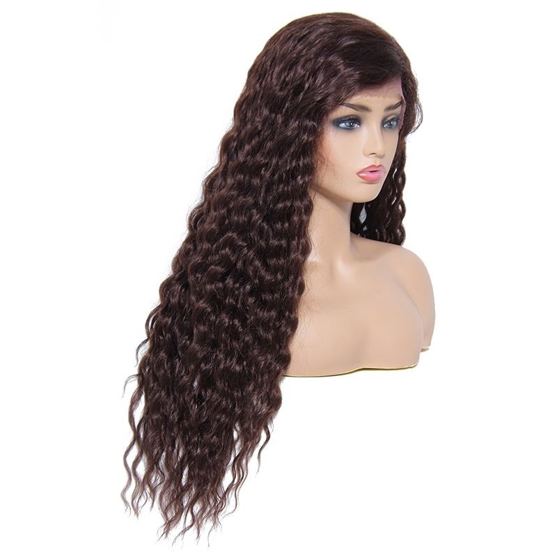 UNice Curly Human Hair Lace Front Wigs With Baby Hair