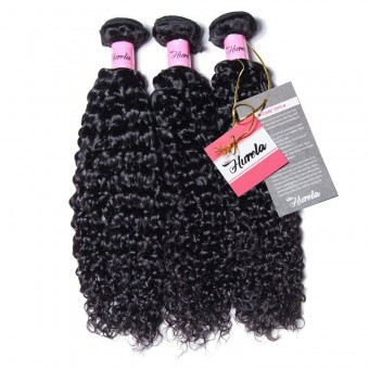 Hurela Series 3Pcs/Pack Jerry Curly Upprocessed Virgin Human Hair Weft Deals