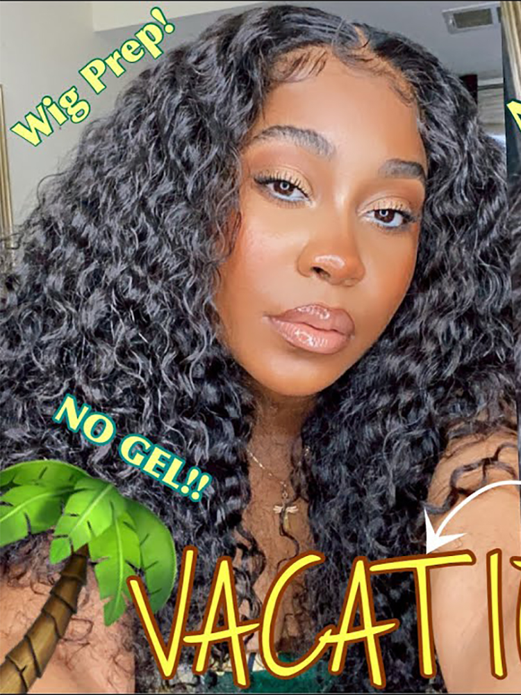 BEST!! 5x5 CURLY CLOSURE EVER *my favorite wig* | GLUELESS VACATION INSTALL + WIG PREP |Jurllyshe